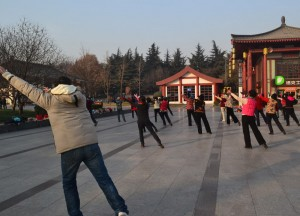 Tai Chi in the Park, Top Attractions in Xian China (Shaanxi)