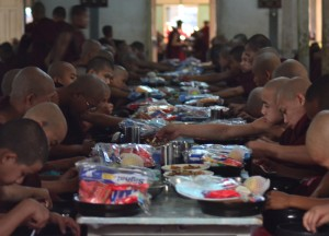 Monks Eating Lunch in Mandalay, Best mandalay day tour by taxi