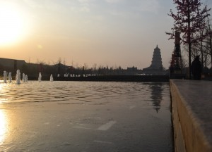 Pagoda Square Fountains, Top Attractions in Xian China (Shaanxi)