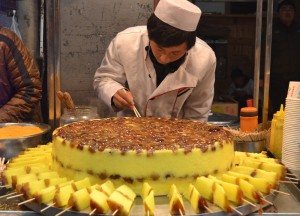 Sticky Rice and Jujube Cake, Eating on Xian Muslim Quarter, Street Food