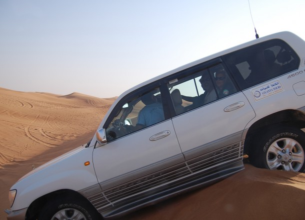 Start of Dune Bashing, Two Day Dubai Stopover, Emirates (UAE)
