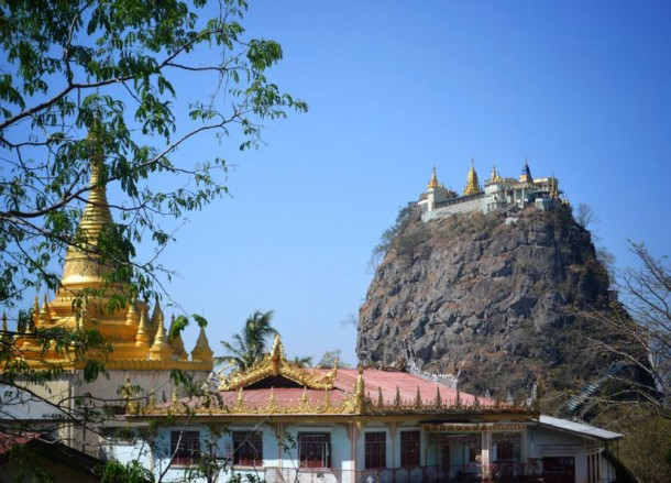 Side Views of Mount Popa, Mount Popa Tour from Bagan, Myanmar