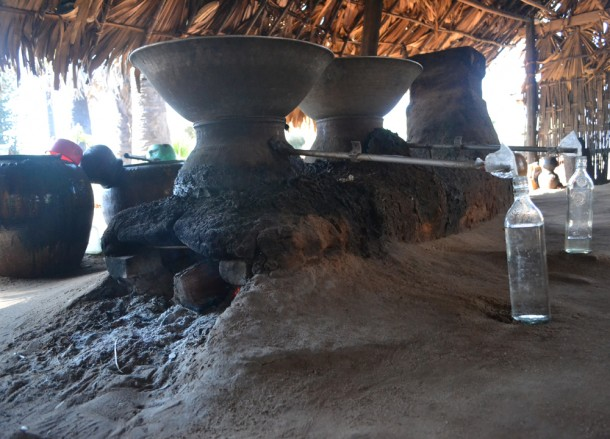 Clay Distillation Still for Making Palm Wine in Burma, Alcohol from Palm Trees