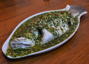 Steamed Seabass Lemon and Chilli, Super 81 Restaurant Mandalay, Best Restaurants Myanmar