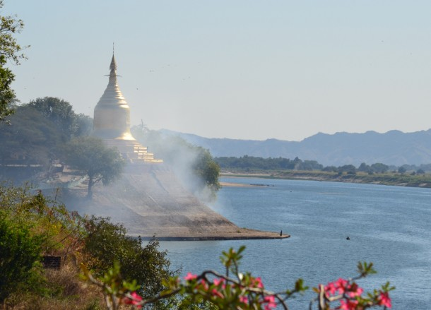 Temple View from Sunset Garden, Two Days in Bagan and Mount Popa, Myanmar