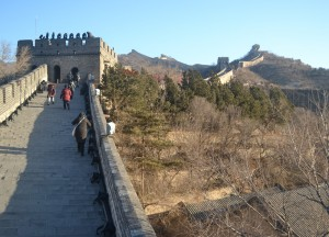 No Tourists on the Wall, Great Wall of China in Winter, Beijing Badaling