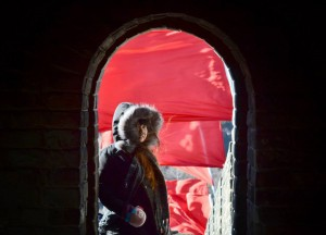 Hiding in Battlement Towers, Great Wall of China in Winter, Beijing Badaling