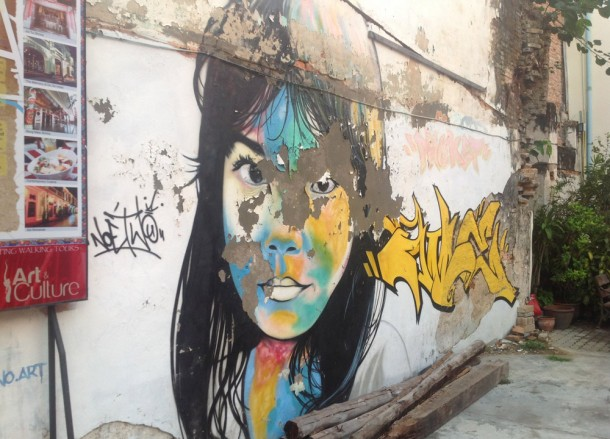 Graffiti and Modern Art on Soi Romannee in Phuket Old Town, Travel in Thailand