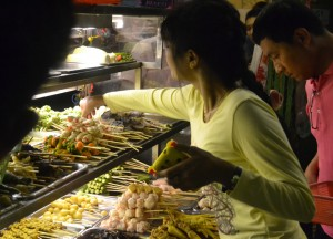 Locals at Barbecue Buffet, 19th Street Food in Yangon Chinatown