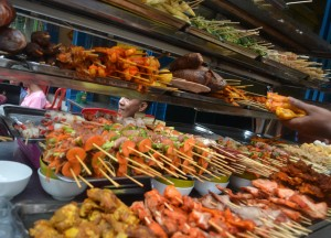 Fresh Meats and Vegetables, 19th Street Food in Yangon Chinatown
