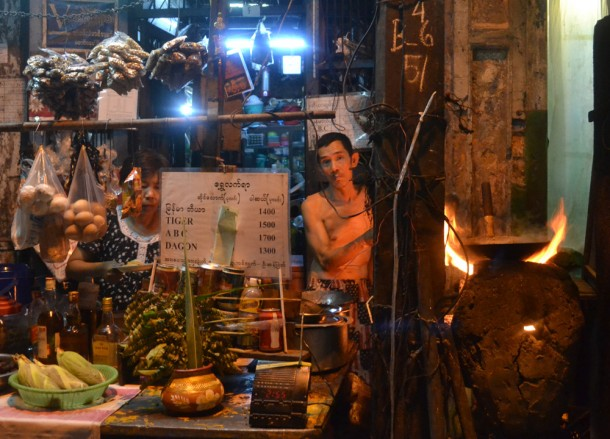 Cooking on Old Clay Oven, 19th Street Food in Yangon Chinatown