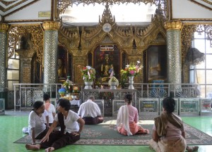Arriving from front Entrance. Sule Pagoda in Yangon Downtown, Myanmar