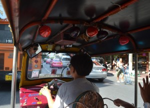 Tuk-Tuk in Chinatown, Buying Diamonds in Bangkok, Thailand