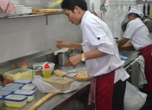 Pizza Preparation Table, Street Food Pizza, Yan Pizza, Sukhumvit 23