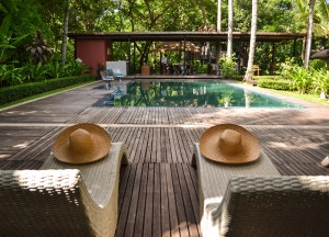 Relaxing Swimming Pool, Maison Polanka Review, Siem Reap