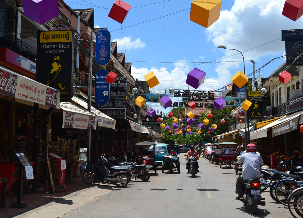 Siem Reap Pub Street, Marijuana Happy Pizzas in Siem Reap