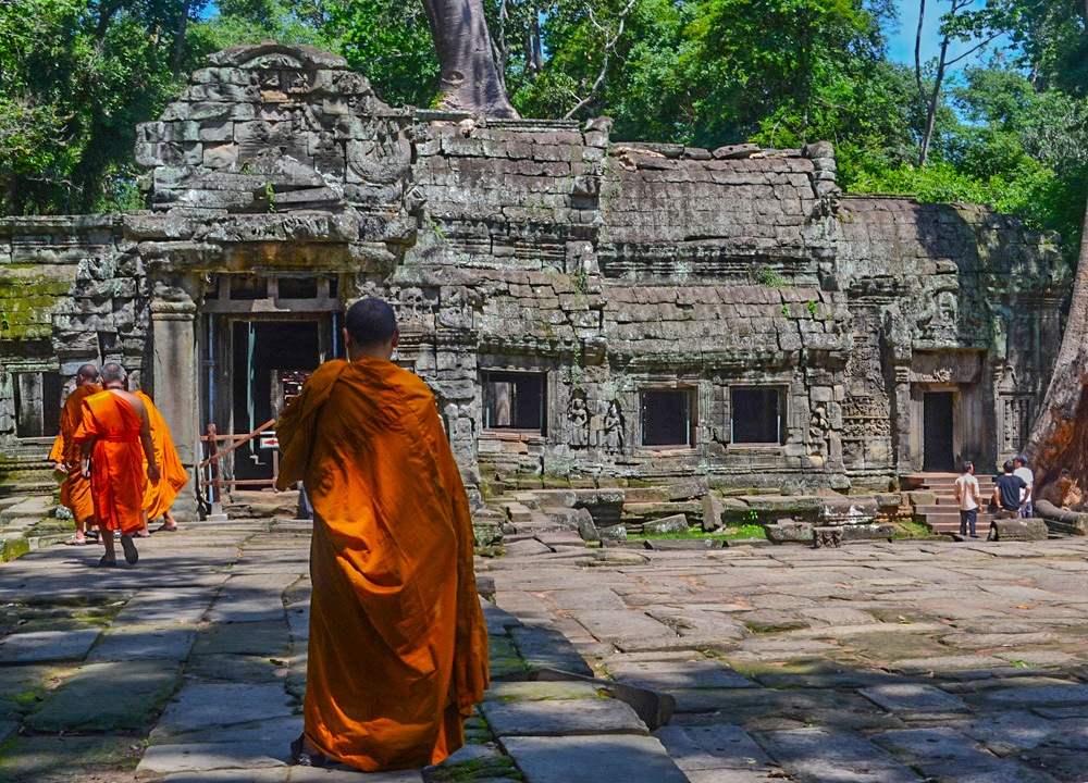 Monks at Ta Prohm, Maison Polanka Review, Siem Reap