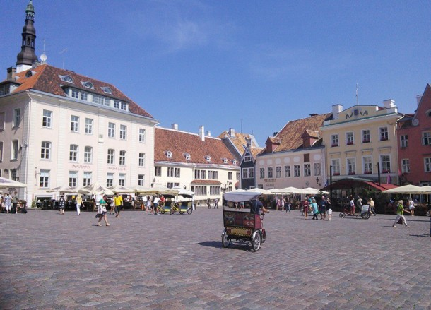 Tallinn Town Square, Backpacking Parents, My Travel Inspiration