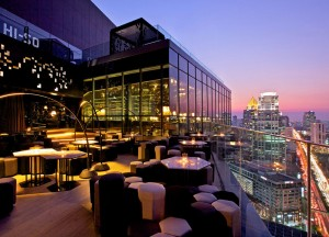 Hi-So Rooftop Bar, Coolest Design Hotels in Bangkok Party Hotels