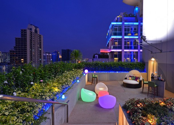 Balcony Bar of Aloft, Coolest Design Hotels in Bangkok Party Hotels