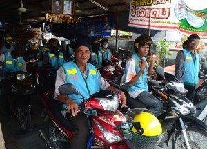Motorbike Taxis, Attractions in Nonthaburi, Bangkok