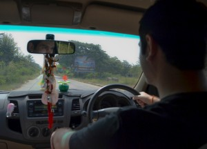 Driving in Nang Rong, Living in Rural Thailand, Isaan North East Thailand