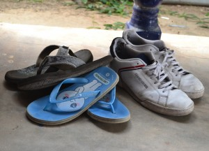 Shoes at Door, Living in Rural Thailand, Isaan North East Thailand