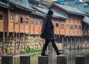 Stepping Stones, Zhangjiajie to Fenghuang, Phoenix Ancient City