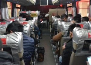 Inside Chinese Bus, Long Distance Travel in China Beginners