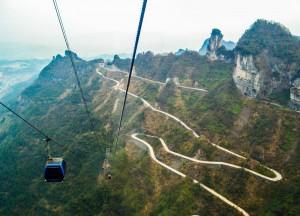 Winding Roads , Zhangjiajie to Tianmen Mountain by Cable Car