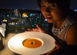Lobster Bisque, Vertigo Rooftop Restaurant Bangkok Moon Bar