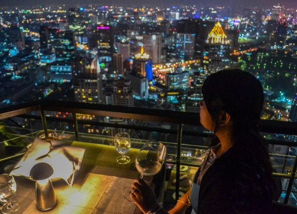 Panoramic Views, Vertigo Rooftop Restaurant Bangkok Moon Bar