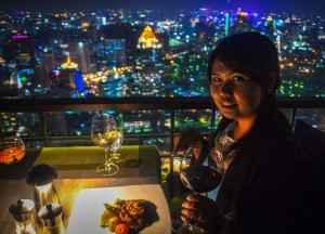 Food with Views, Vertigo Rooftop Restaurant Bangkok Moon Bar