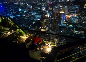 Relaxed Clientele at Vertigo Rooftop Restaurant Bangkok Moon Bar