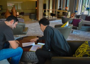 Business Foyer Meeting. Hilton Sukhumvit Bangkok Phrom Phong Em District