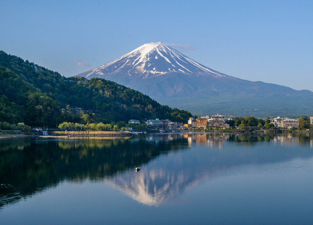 Image result for Lake Kawaguchi and of Mt. Fuji