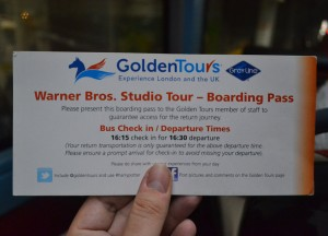 Bus Tickets, Getting to the Harry Potter Studios from London Underground