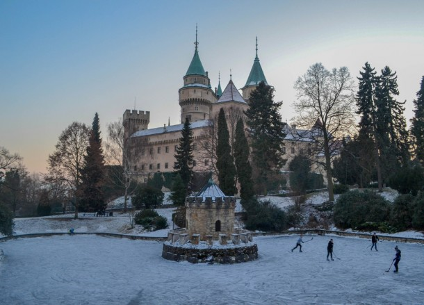 Bojnice Castle in Snow, Winter Road Trip in East Central Europe