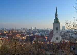 Bratislava Viewpoint, Winter Road Trip in East Central Europe