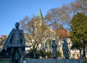 Bratislava Sculptures, Winter Road Trip in East Central Europe