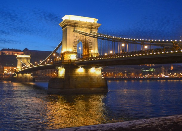 Budapest Chain Bridge, Winter Road Trip in East Central Europe