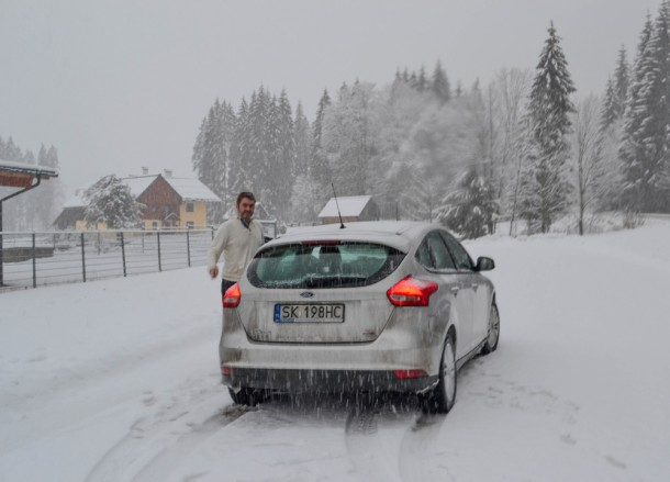 Stopping for Snow, Winter Road Trip in East Central Europe