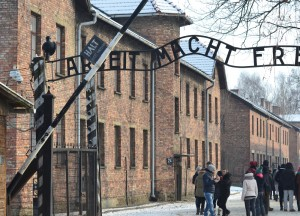 Entrance to Auschwitz, Winter Road Trip in East Central Europe