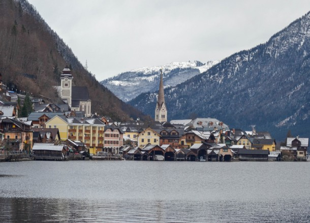 Hallltatt Austria. Winter Road Trip in East Central Europe