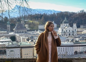 Fanfan in Salzburg, Winter Road Trip in East Central Europe