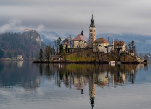 Lake Bled on Winter Road Trip in East Central Europe