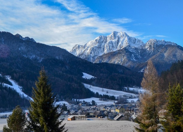 Kranjska gora in Winter Road Trip in East Central Europe