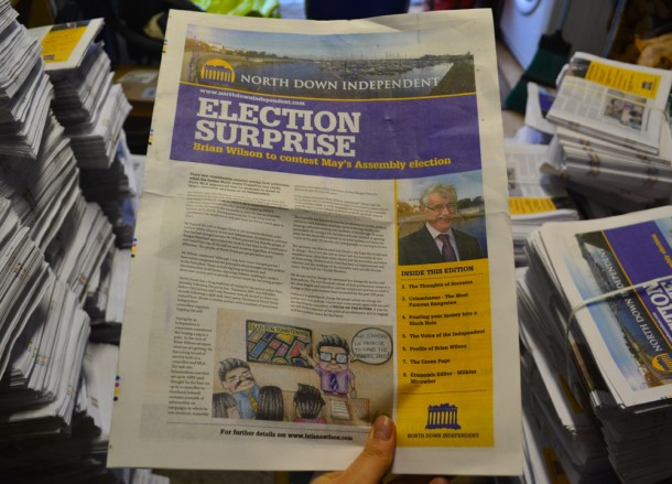 North Down Independent News, Northern Ireland Assembly Election 2016