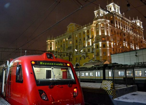 Rail Shuttle, Moscow Airport to City Centre by Train