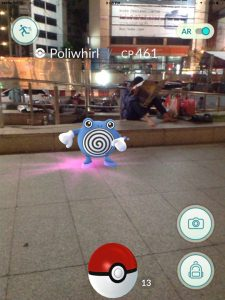 Poliwhirl in Chinatown, Playing Pokemon in Bangkok Thailand Traveller Expat Pokemon Go Game